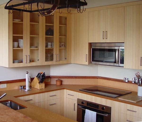 Gbc kitchen bamboo cabinets for Bamboo kitchen cabinets